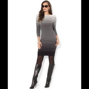 NEW! [ Ralph Lauren ] Ombré Striped Sweater Dress